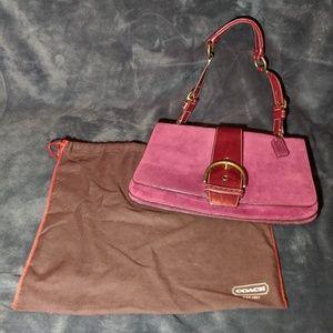 Burgundy Coach Shoulder Bag